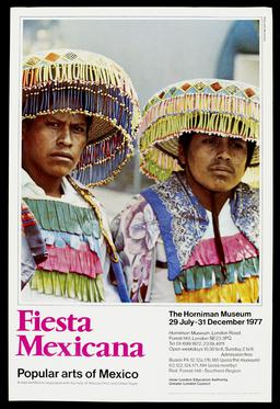 Exhibition poster: Exhibitions: Fiesta Mexicana - Popular Arts in Mexico, 1977,  Archive, paper