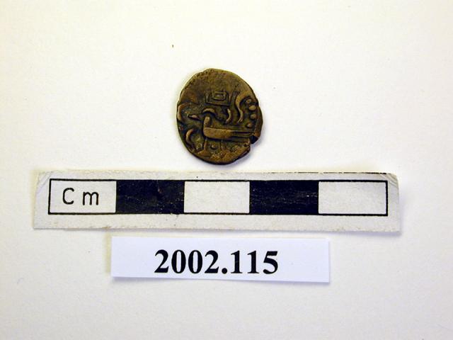 votive plaque; coin