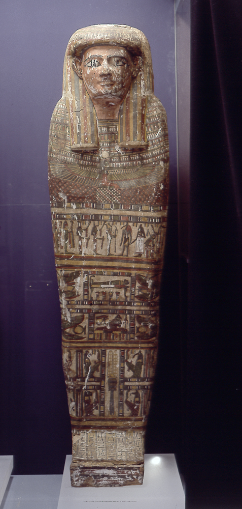coffin cover; mummy case