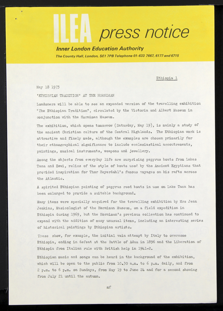 General view of object no. ARC/HMG/EXH/1973/002/001.