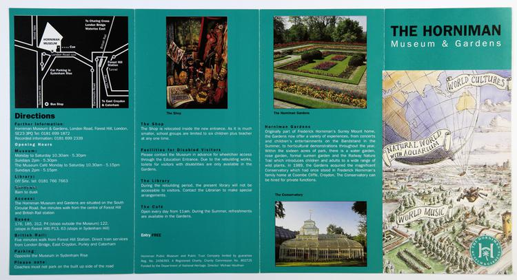 The Horniman Museum and Gardens Visitor Leaflet, 1995