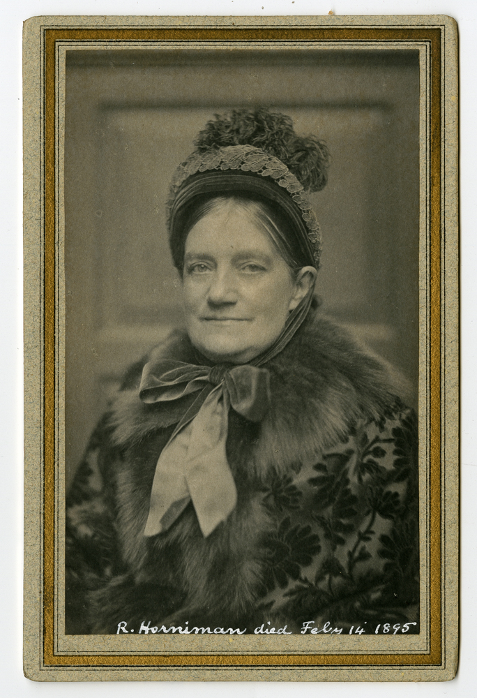 Cabinet card featuring photograph of Rebekah Horniman