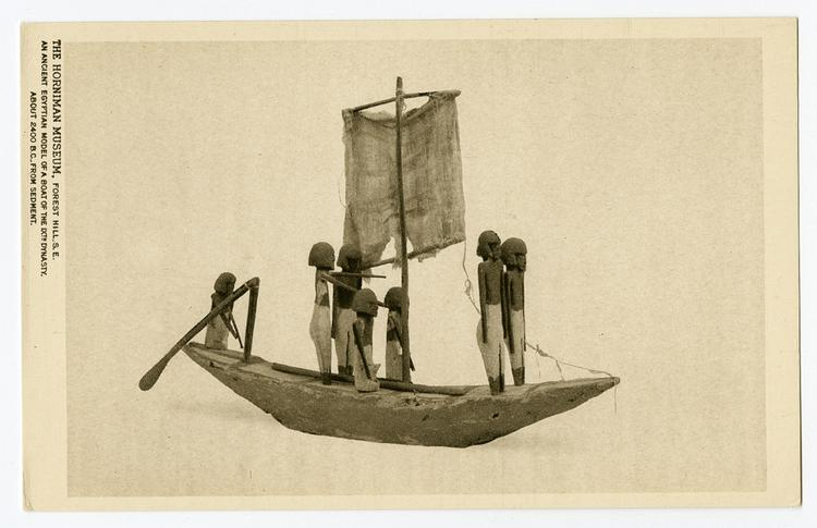 Ancient Egyptian model of a boat