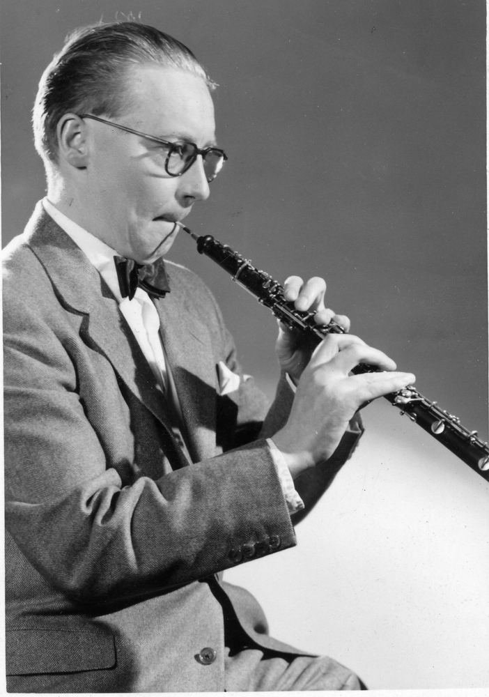 Photographs: Jack Sutclifffe playing the oboe