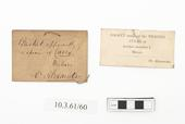 General view of label of Horniman Museum object no 10.3.61/60