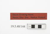 General view of label of Horniman Museum object no 19.5.48/144