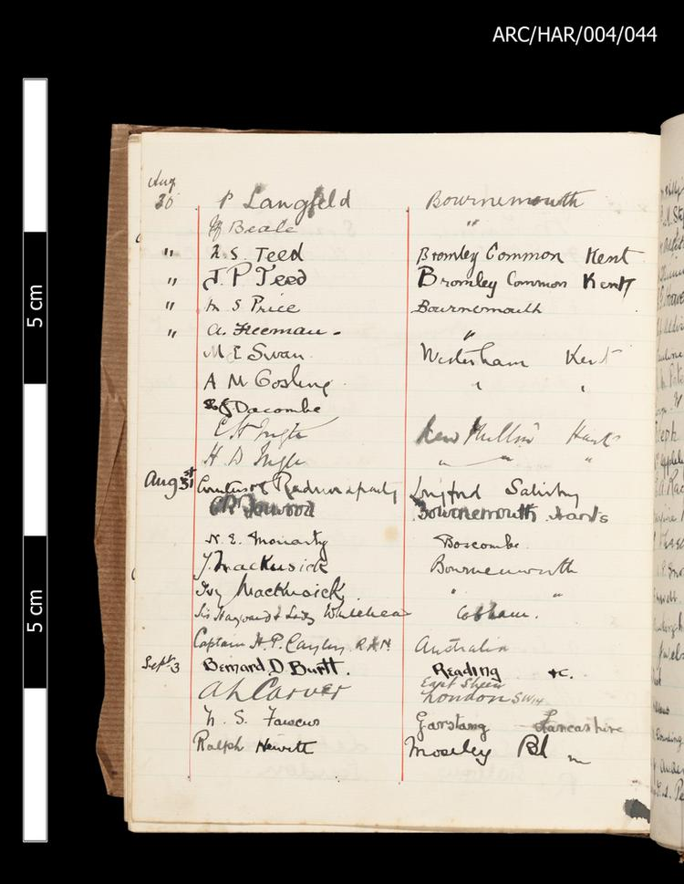 Hart Museum Visitor Books
