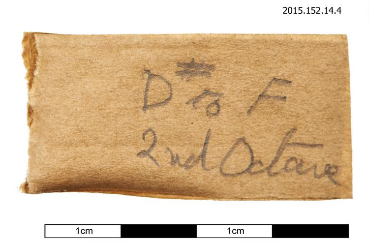 General view of spare string identification of Horniman Museum object no 2015.152.14.4
