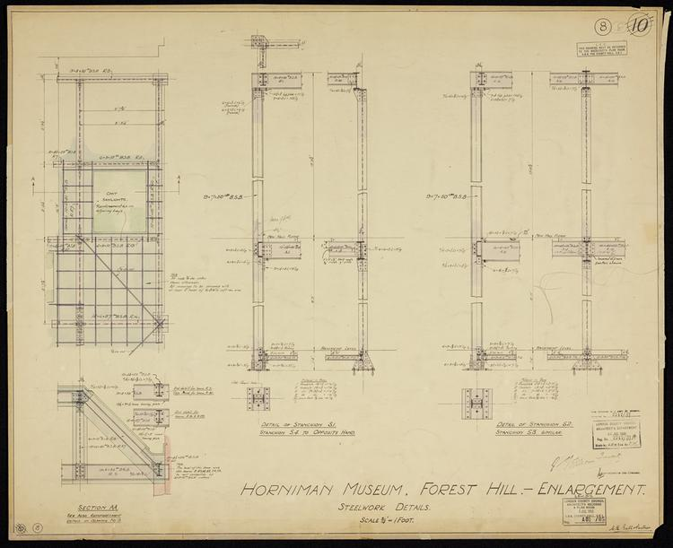 Horniman Museum Enlargement No. 10: Steelwork Details