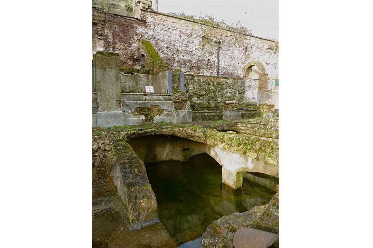 The ruins of Crystal Palace Aquarium