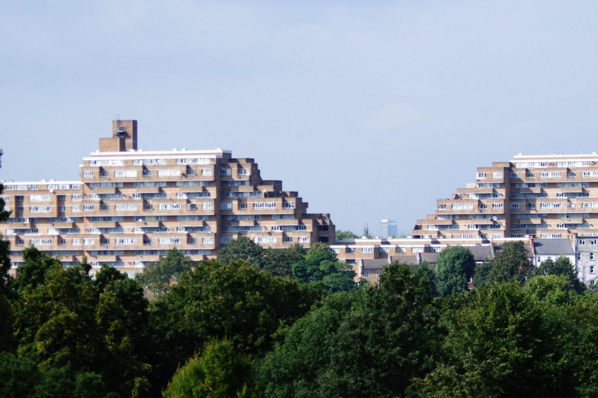 Dawson's Heights housing block as seen from a distance