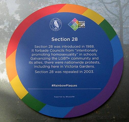 blue and rainbow plaque