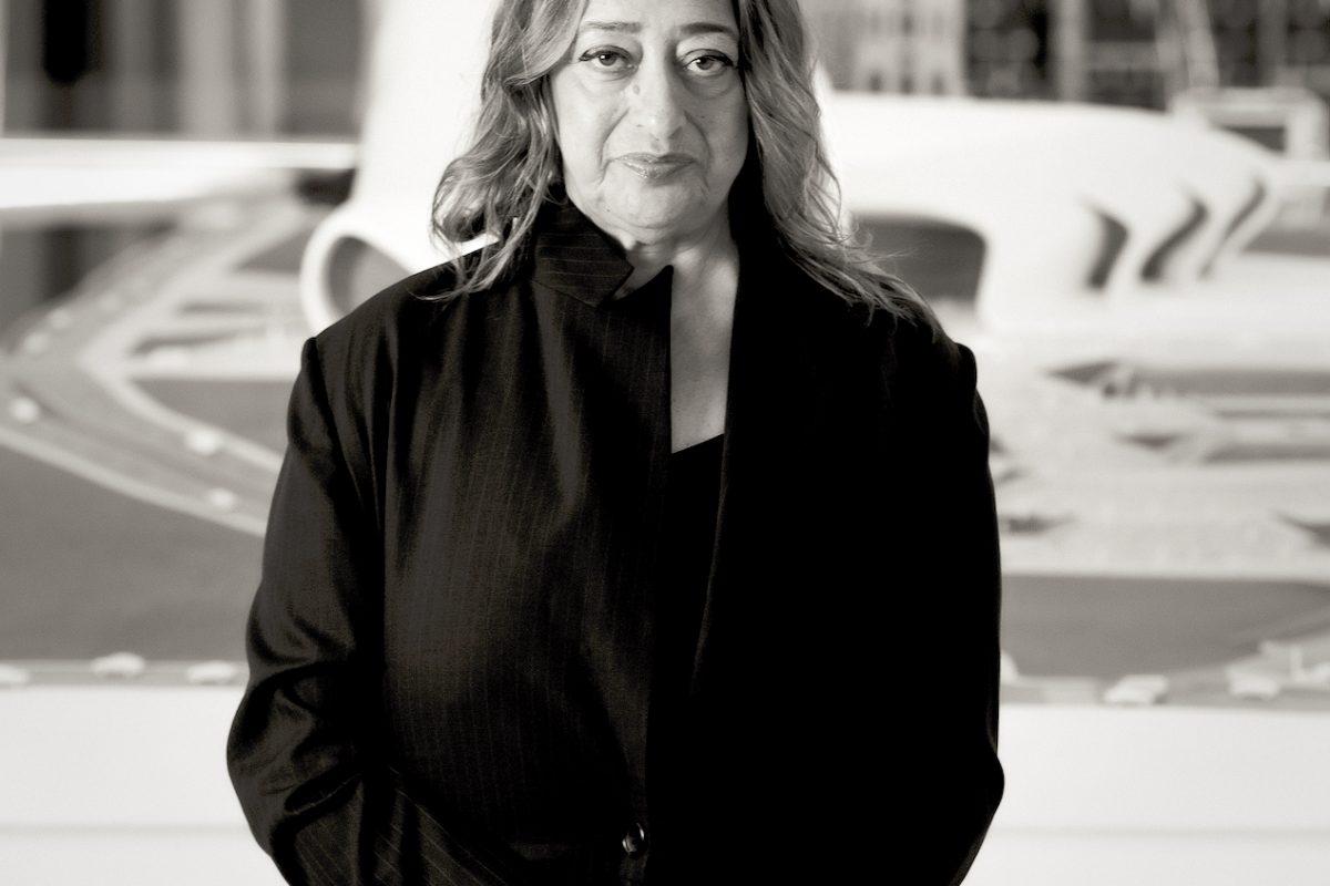 Woman in black long coat