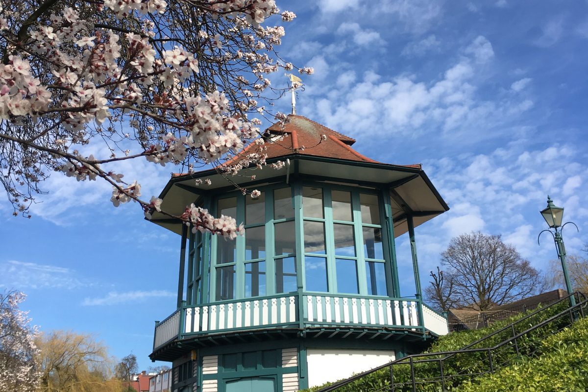 A bandstand in spring