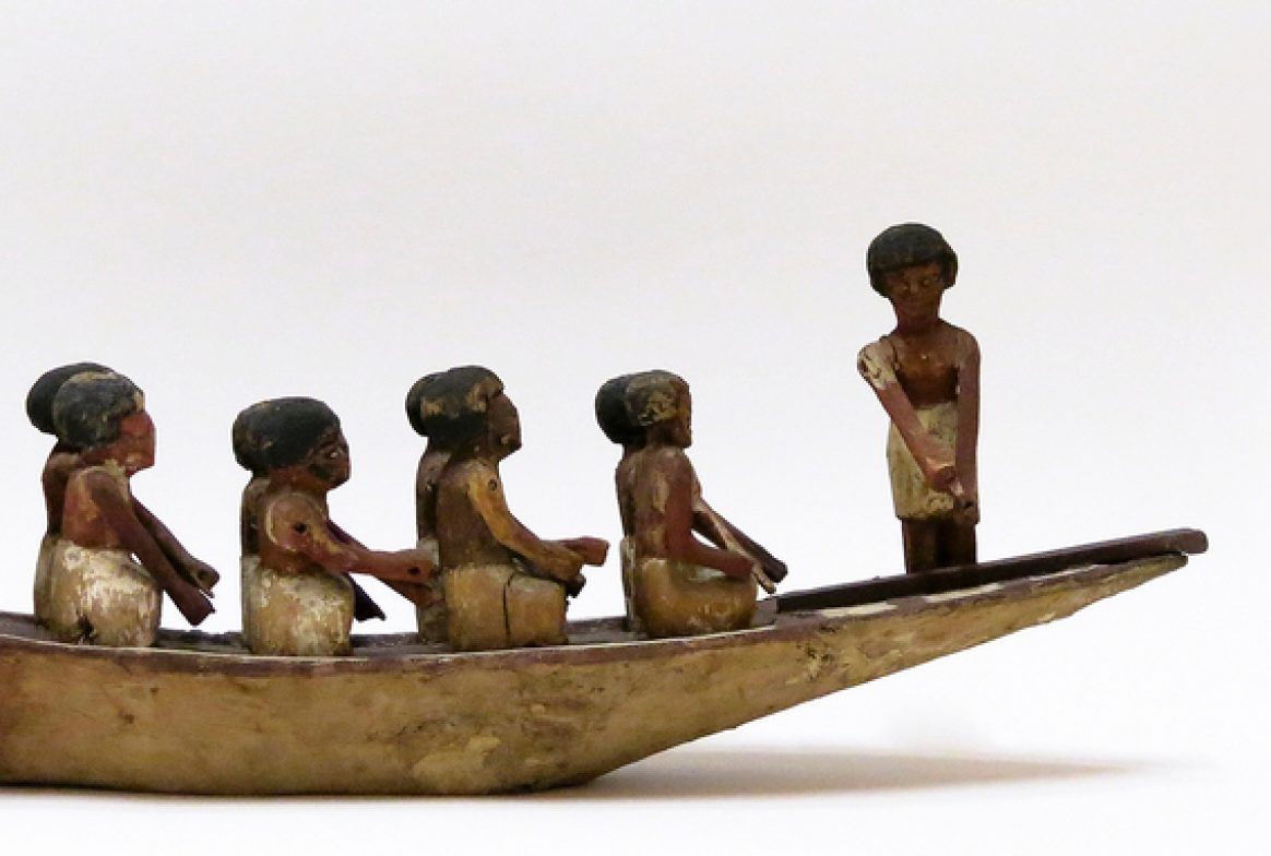 Model of 12 people on boat
