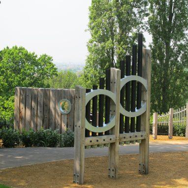 large instrument in garden