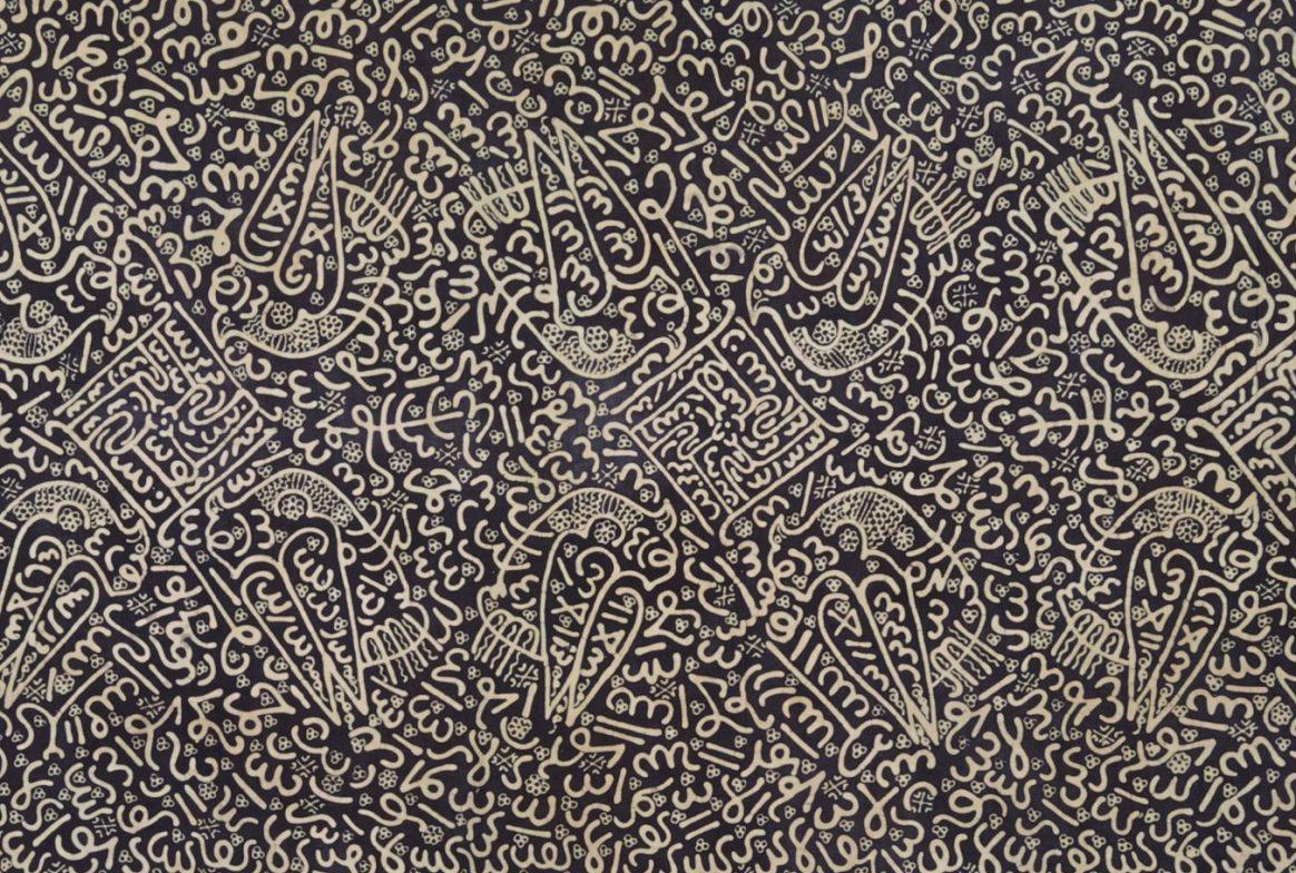 cloth drawn in wax