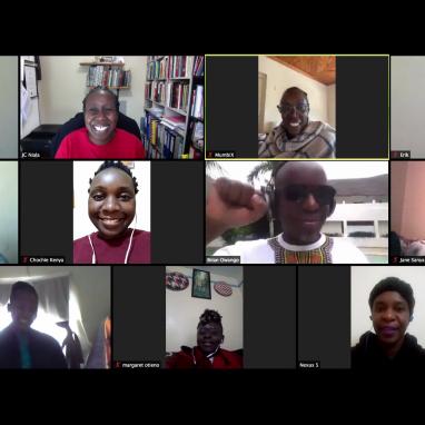 screenshot of people in webcams.