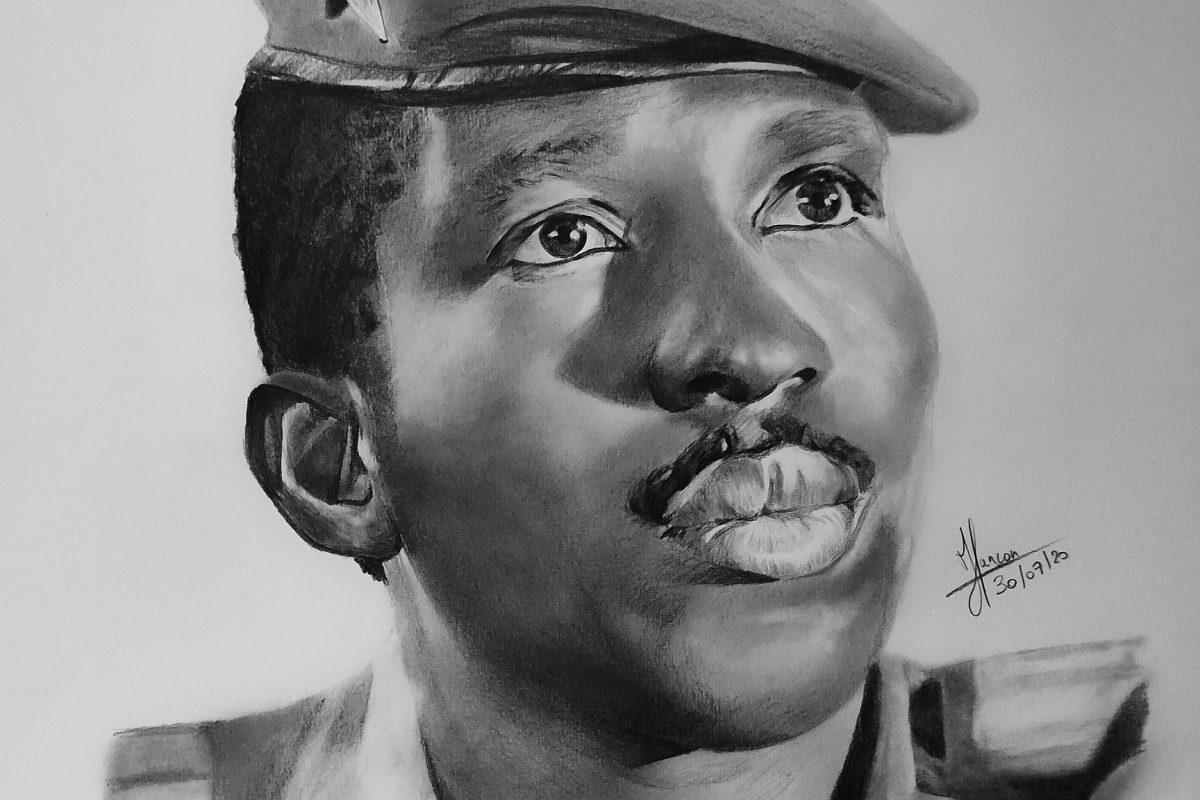 A drawing of Thomas Sankara