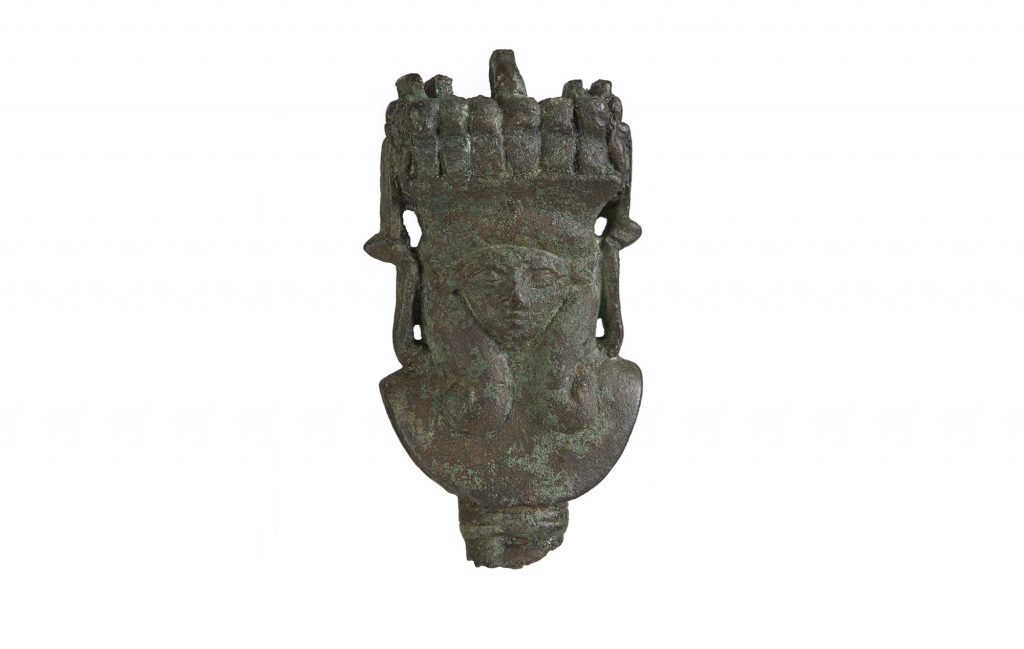 Copper alloy figure of Hathor