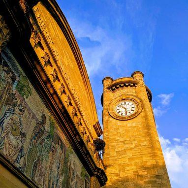 The Horniman Clocktower at sunset