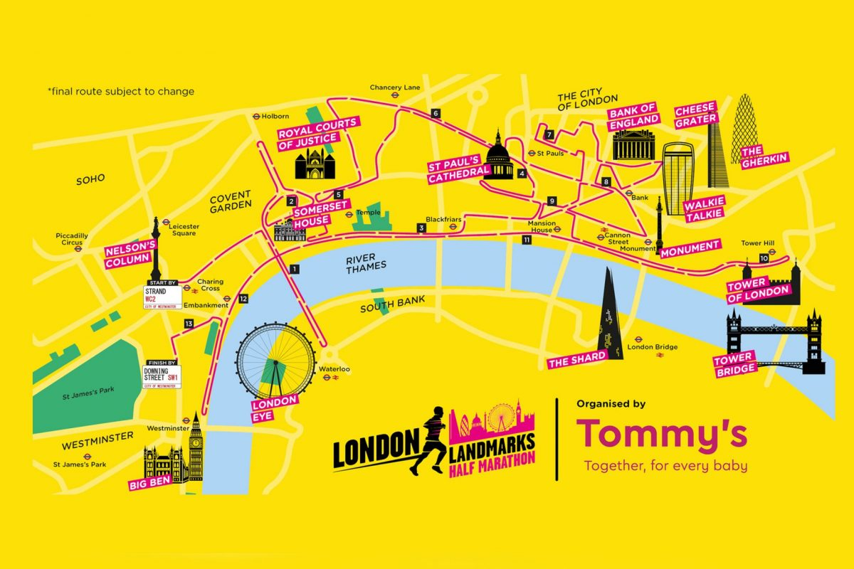 Yellow map of central London