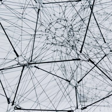 a network of cables forming a web