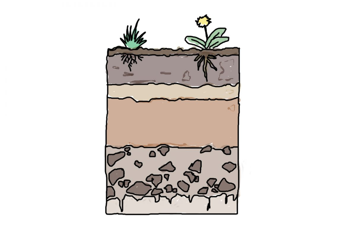 Illustration of layers of soil