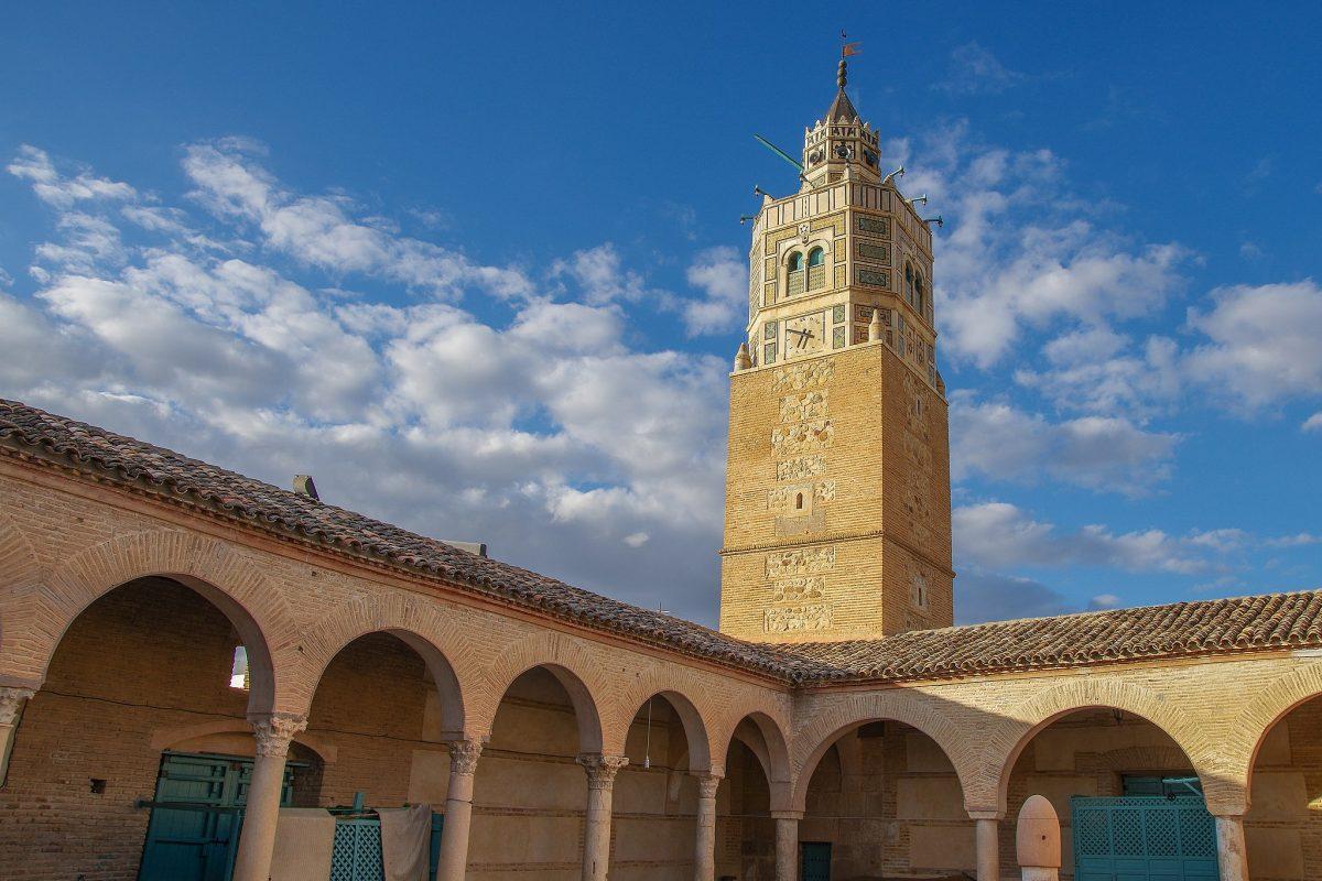 An older brick minaret in testour