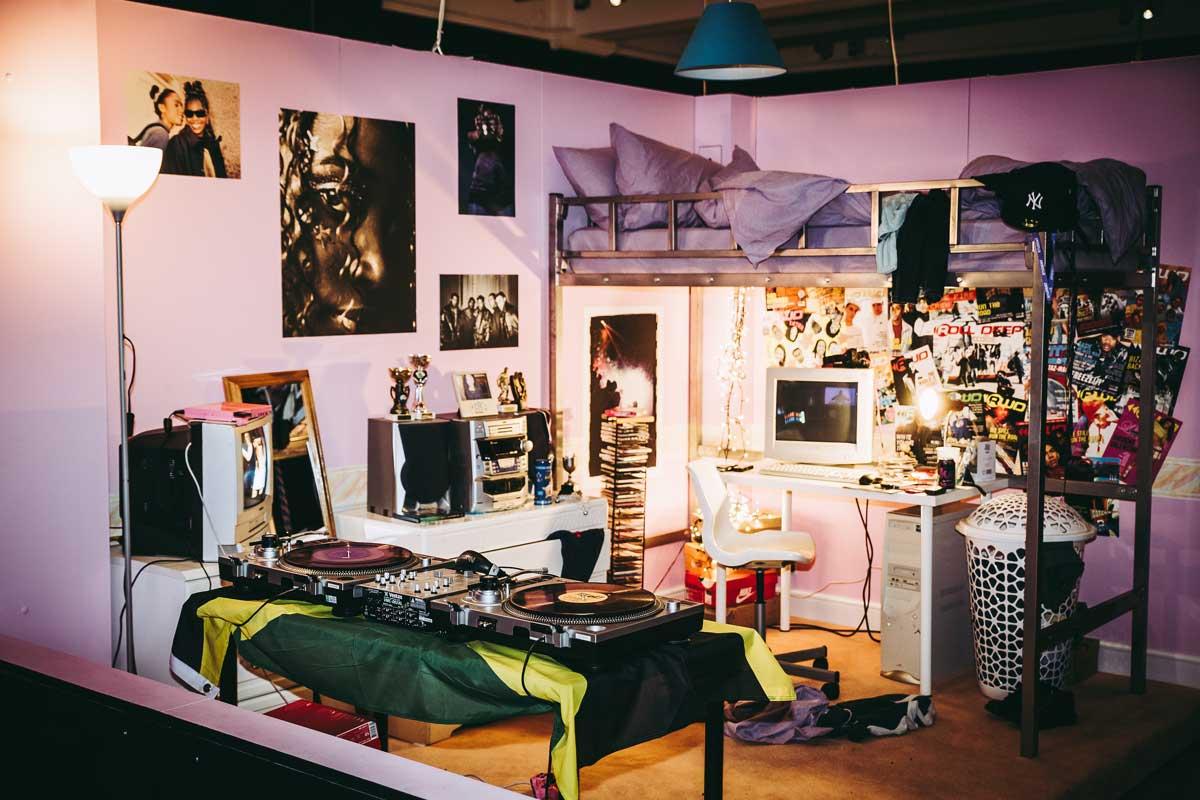 An early noughties teenage bedroom