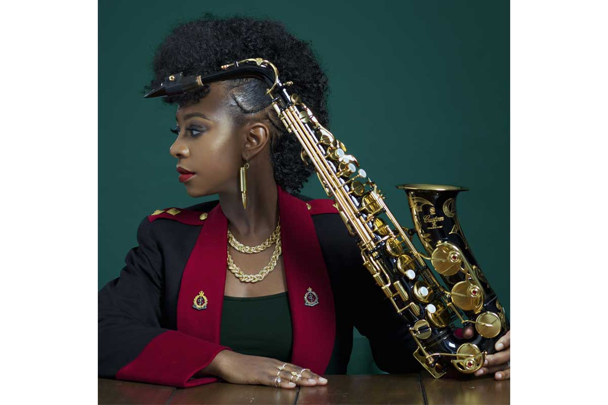 YolanDa Brown and her saxophone