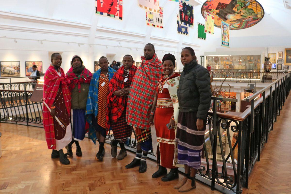 Seven Maasai visitors to the Horniman